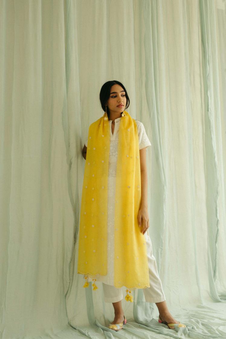 Ivory Lakhnavi Kurta Set